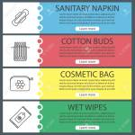 Hygienic Accessories Web Banner Templates Set Sanitary Napkin Royalty Free Cliparts Vectors And Stock Illustration Image 86916437
