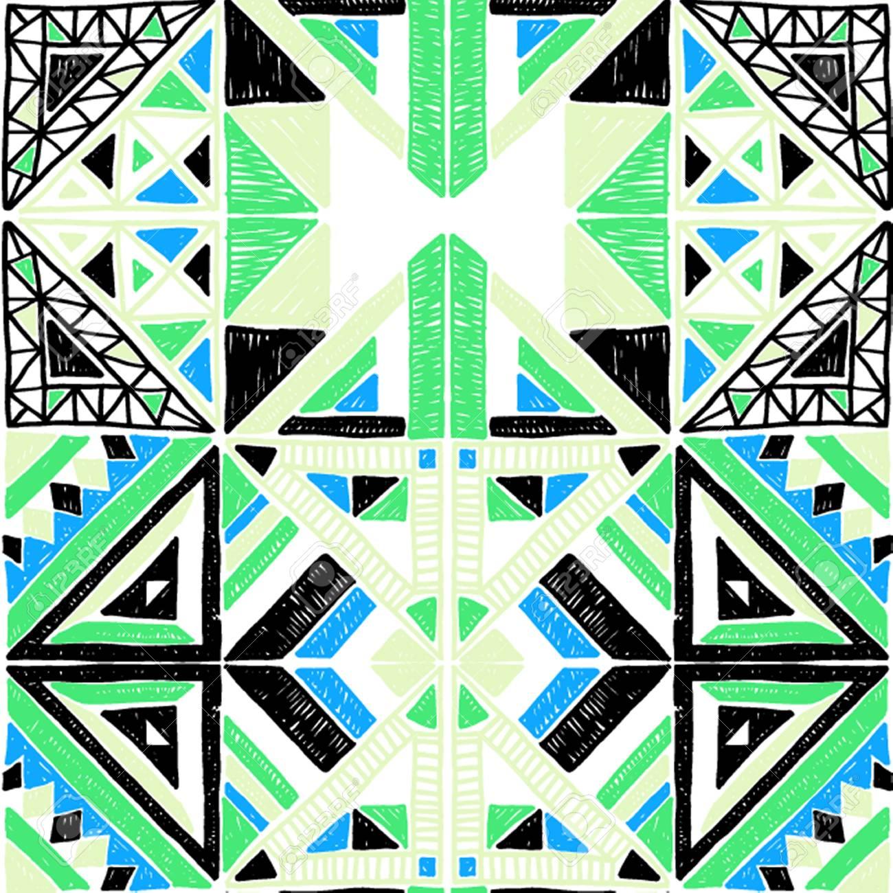 geometrique modele sans couture africaine ornement ethnique sur le tapis style azteque et texture vecteur ethnique tribal pour la broderie sur le