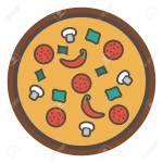 Vector Slice Of Pizza Fast Italian Food Icon Restaurant Menu Ilustraciones Vectoriales Clip Art Vectorizado Libre De Derechos Image 104099268