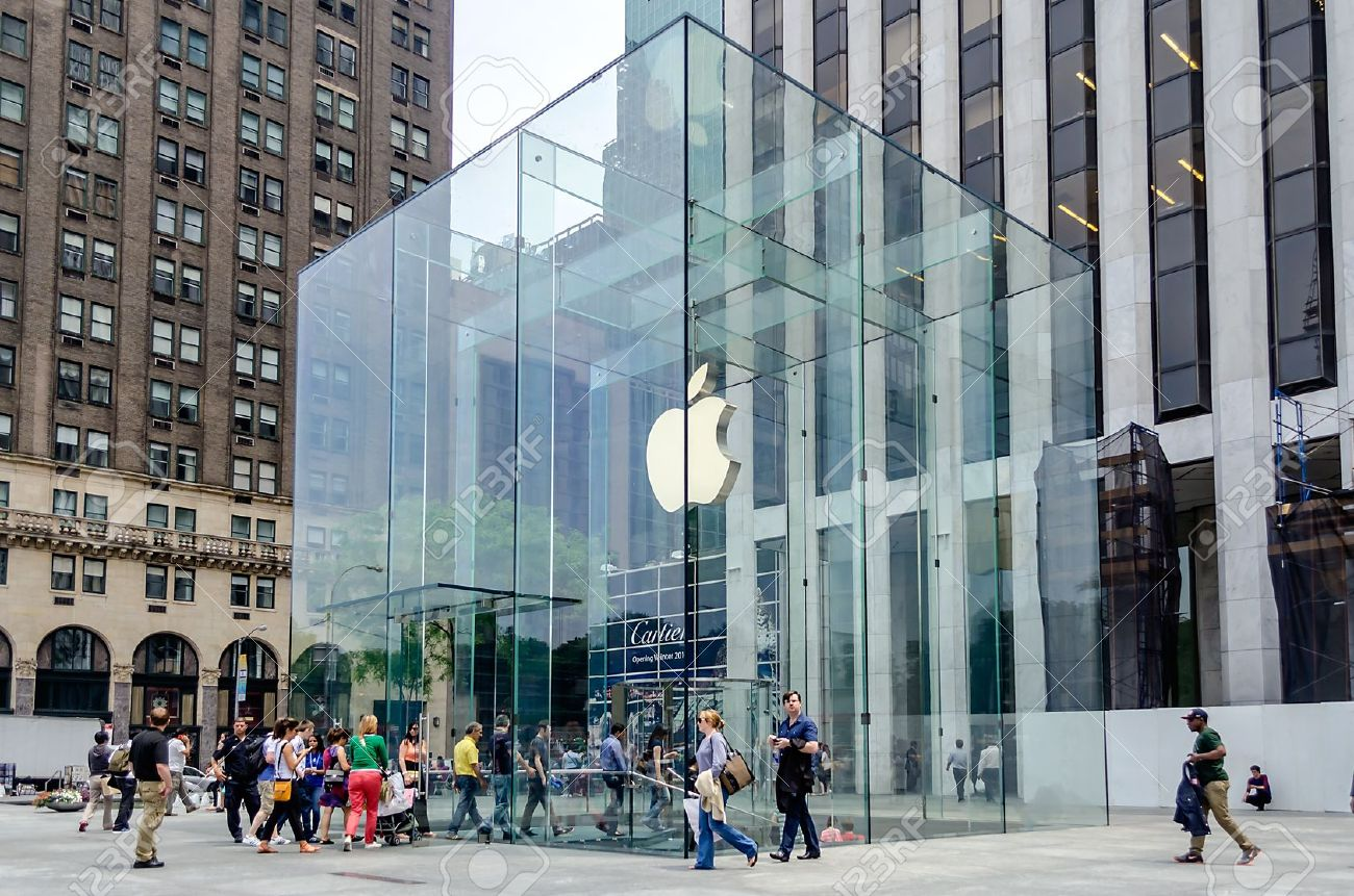 Apple Store Cube On 5th Avenue  New York Stock Photo  Picture And     Apple Store cube on 5th Avenue  New York Stock Photo   21714280