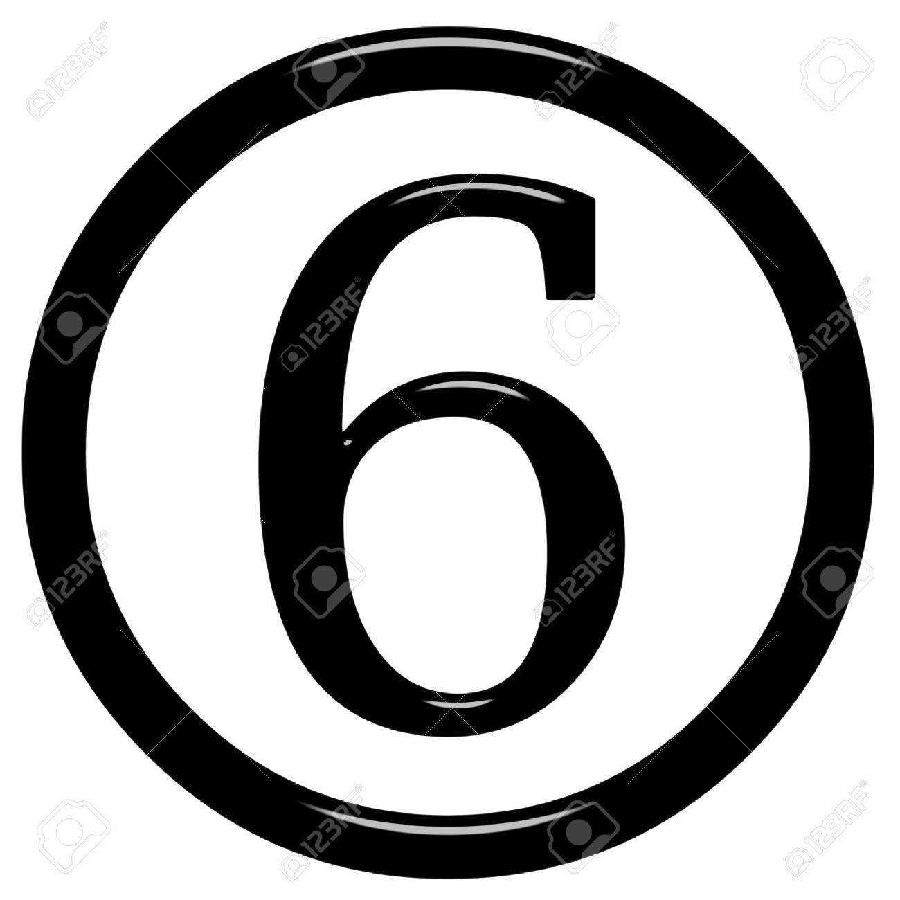 Image result for free picture of the number 6