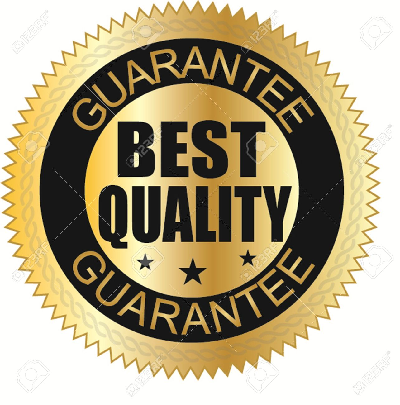 Best Quality Guaranteed Golden Label Vector Illustration Stock Vector 24472260