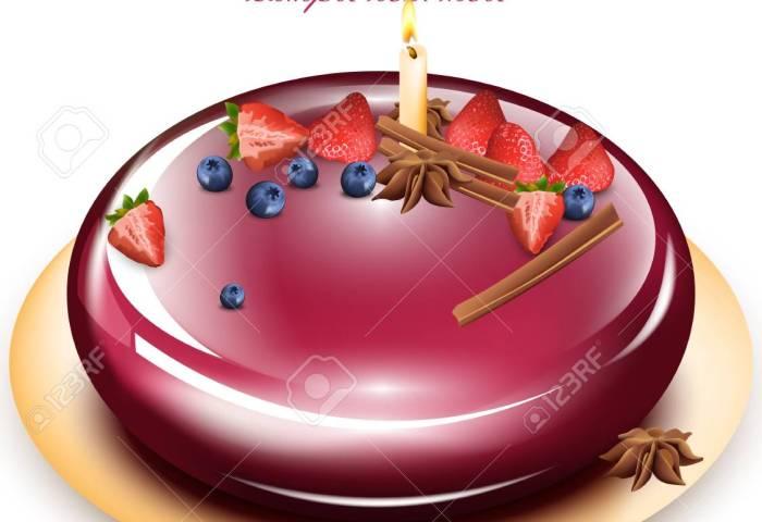 Happy Anniversary Cake Vector Vector Illustration Royalty Free