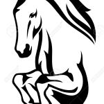 Jumping Horse Black And White Vector Outline Royalty Free Cliparts Vectors And Stock Illustration Image 21178610