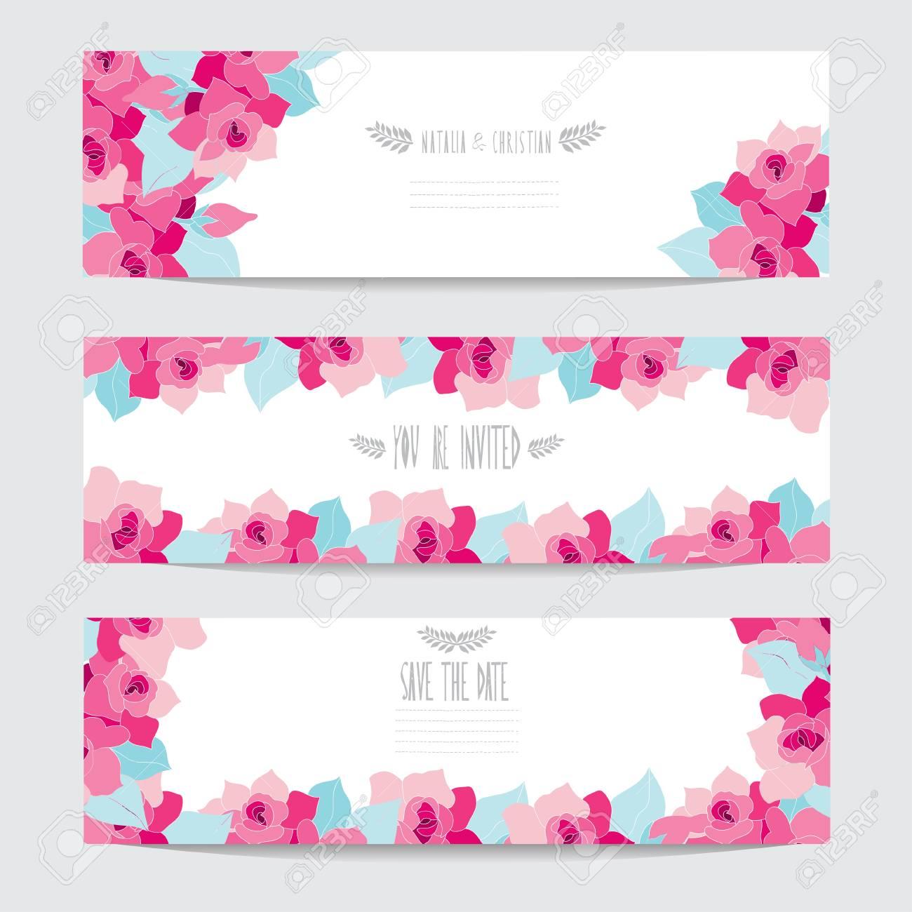 Eleganti Carte Con Fiori Gardenia Decorativi Elementi Di Design Può Essere Utilizzato Per Matrimoni Baby Shower Giorno Delle Madri Giorno Del