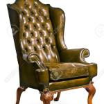Old Antique Green Leather Arm Chair English With Clip Path Stock Photo Picture And Royalty Free Image Image 53585241
