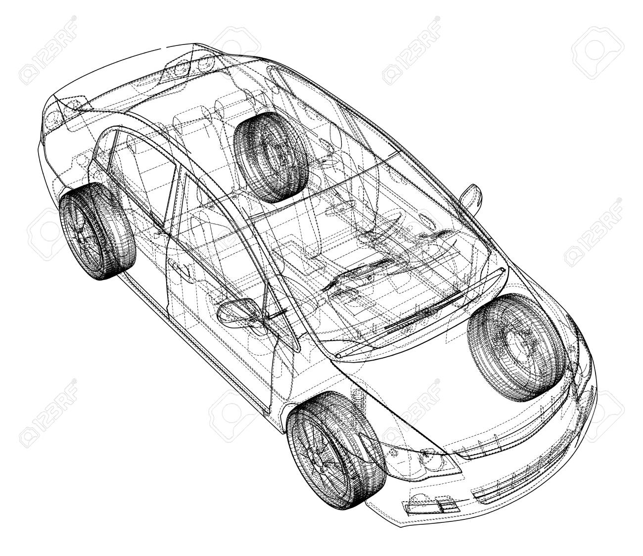 Concept car blueprint stock photo picture and royalty free image