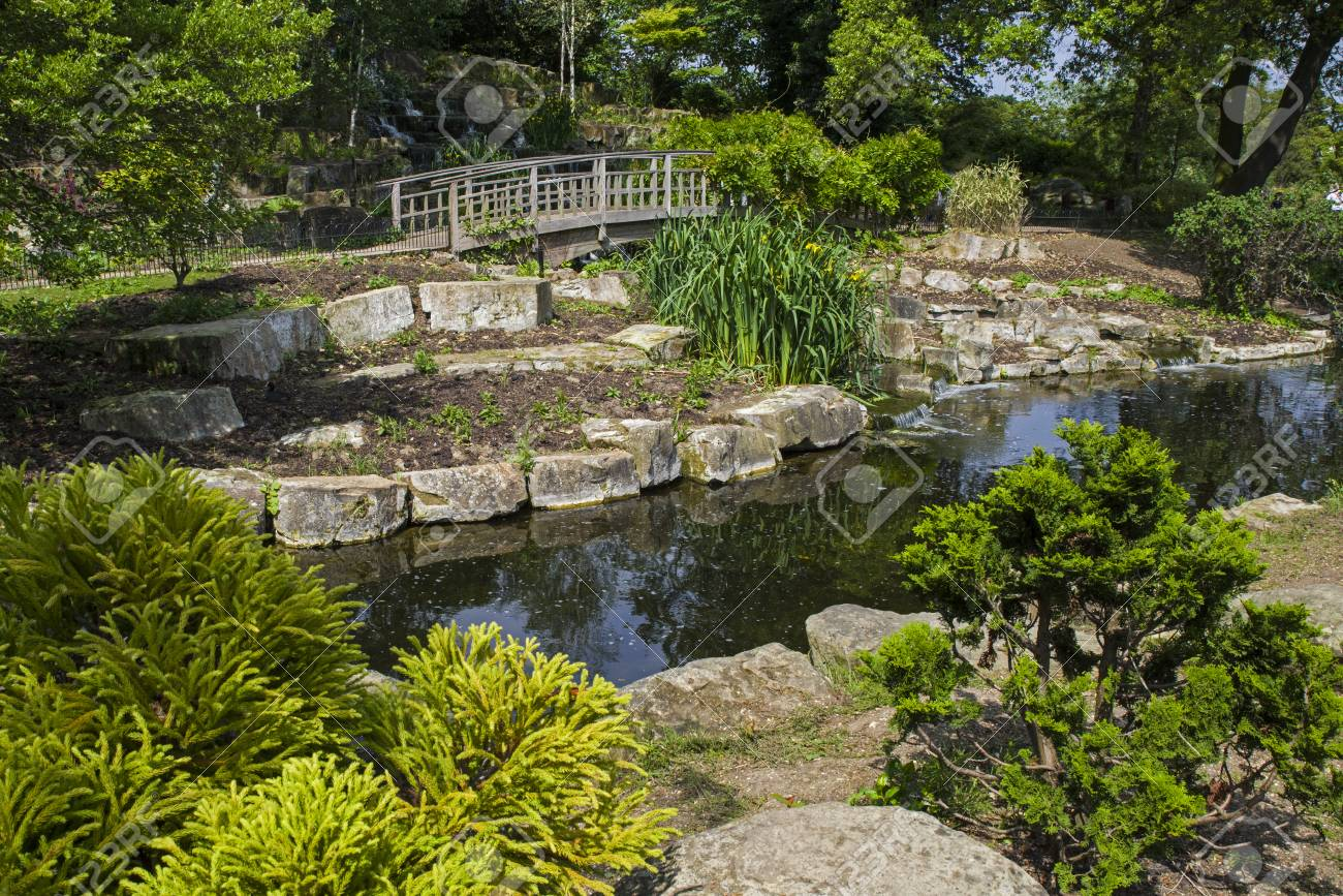 A View Of The Beautiful Japanese Garden Island Located In Queen Marys Gardens In Regents Park