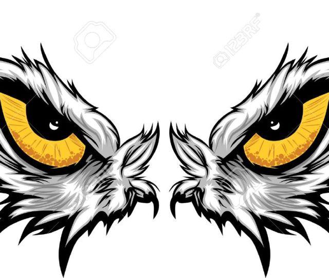 Cartoon Vector Mascot Image Of An Eagle Eyes Stock Vector 11375466