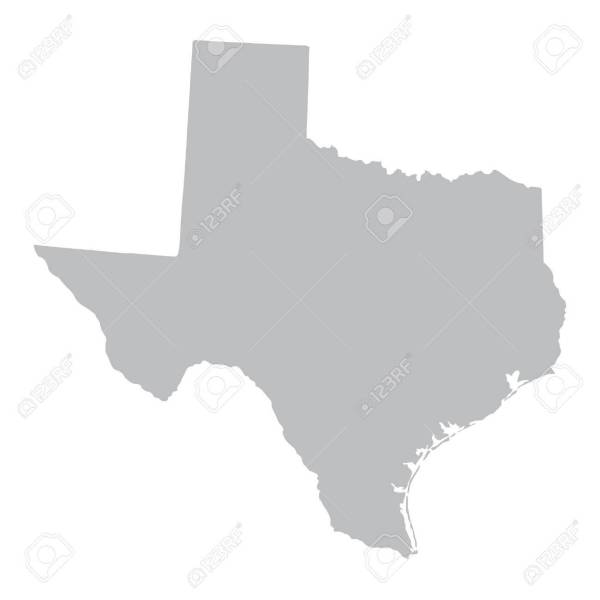 Grey Map Of Texas Royalty Free Cliparts  Vectors  And Stock     grey map of Texas