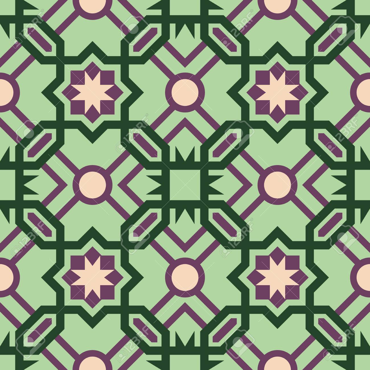 https www 123rf com photo 55094212 stock vector abstract ceramic mosaic floor tile seamless pattern with geometric moroccan shape design in green co html
