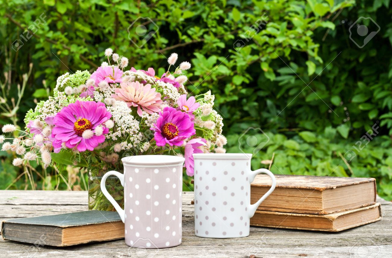 Image result for books and flowers