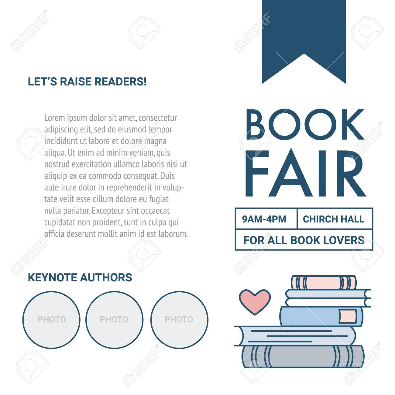 book fair poster template header text and place for photo scholastic