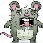 A Cartoon Illustration Of An Ugly Rat Looking Tired Royalty Free Cliparts Vectors And Stock Illustration Image 42751567