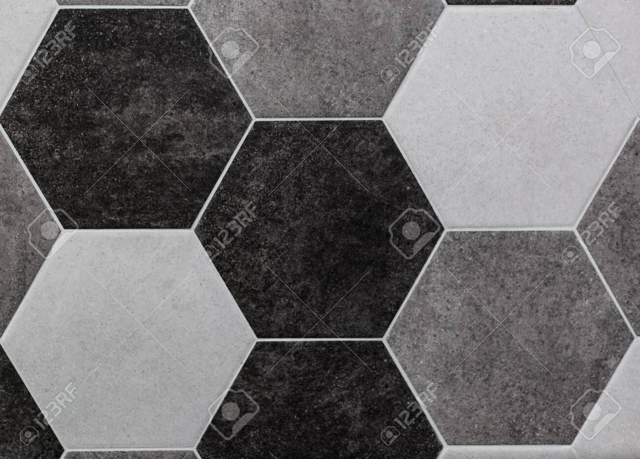 large hexagonal background concrete structure shades of gray