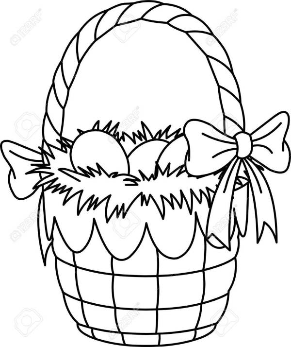 basket coloring page # 15