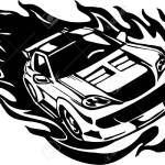 Street Racing Cars Illustration Ready For Vinyl Cutting Royalty Free Cliparts Vectors And Stock Illustration Image 8682364