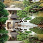 Stone Lantern In A Japanese Garden With Water Reflection Stock Photo Picture And Royalty Free Image Image 35710812