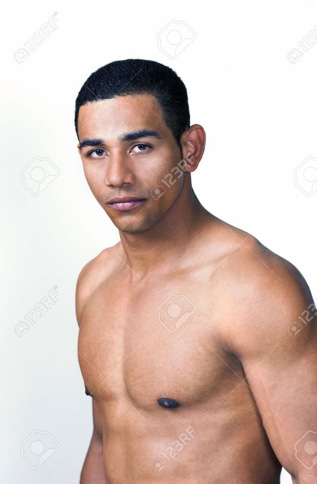 Sexy Latino Or Hispanic Man With Naked Torso Stock Photo 12082727