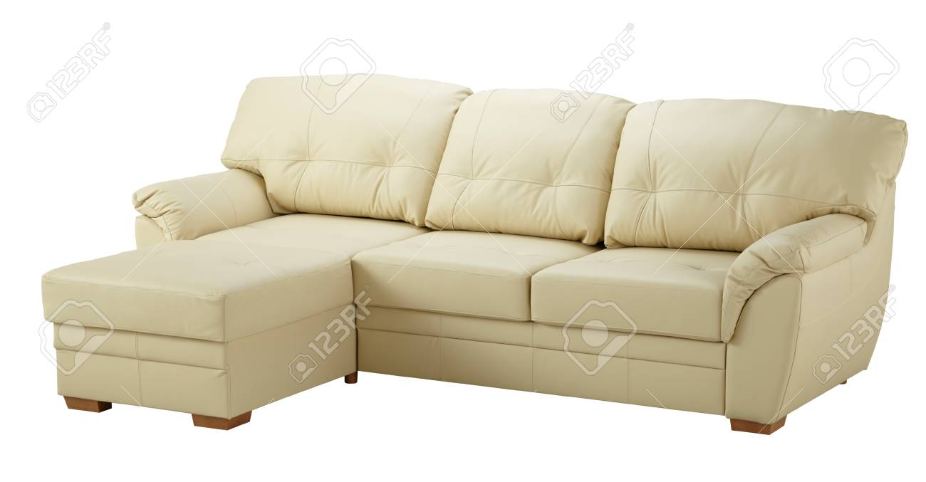 white leather corner sofa isolated on white stock photo picture and royalty free image image 78705409