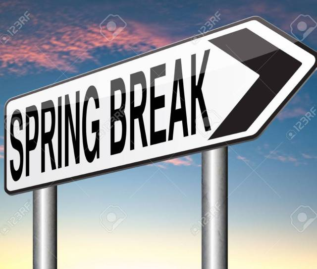 Spring Break Holiday Or School Vacation Stock Photo 33373687