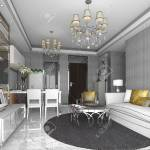 3d Rendering Luxury And Modern Living Room With Chandelier Stock Photo Picture And Royalty Free Image Image 81299587