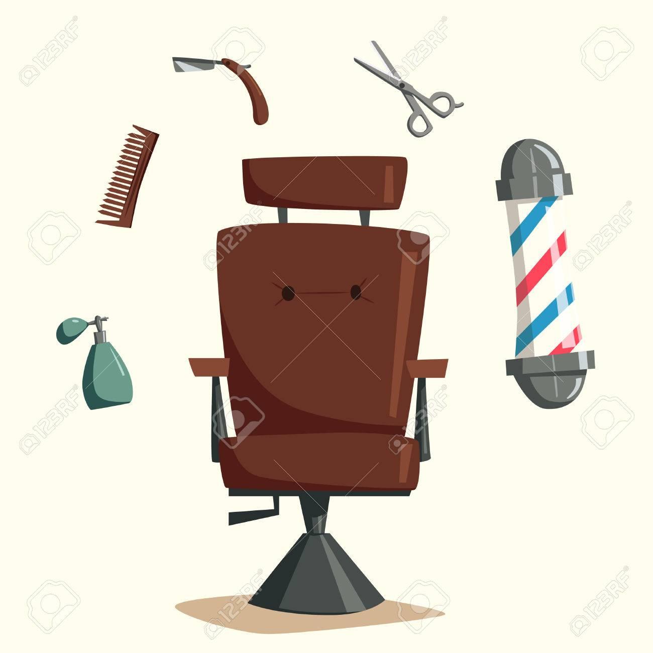 salon de coiffure vecteur cartoon illustration ciseaux a la main coiffure vintage ensemble d outils