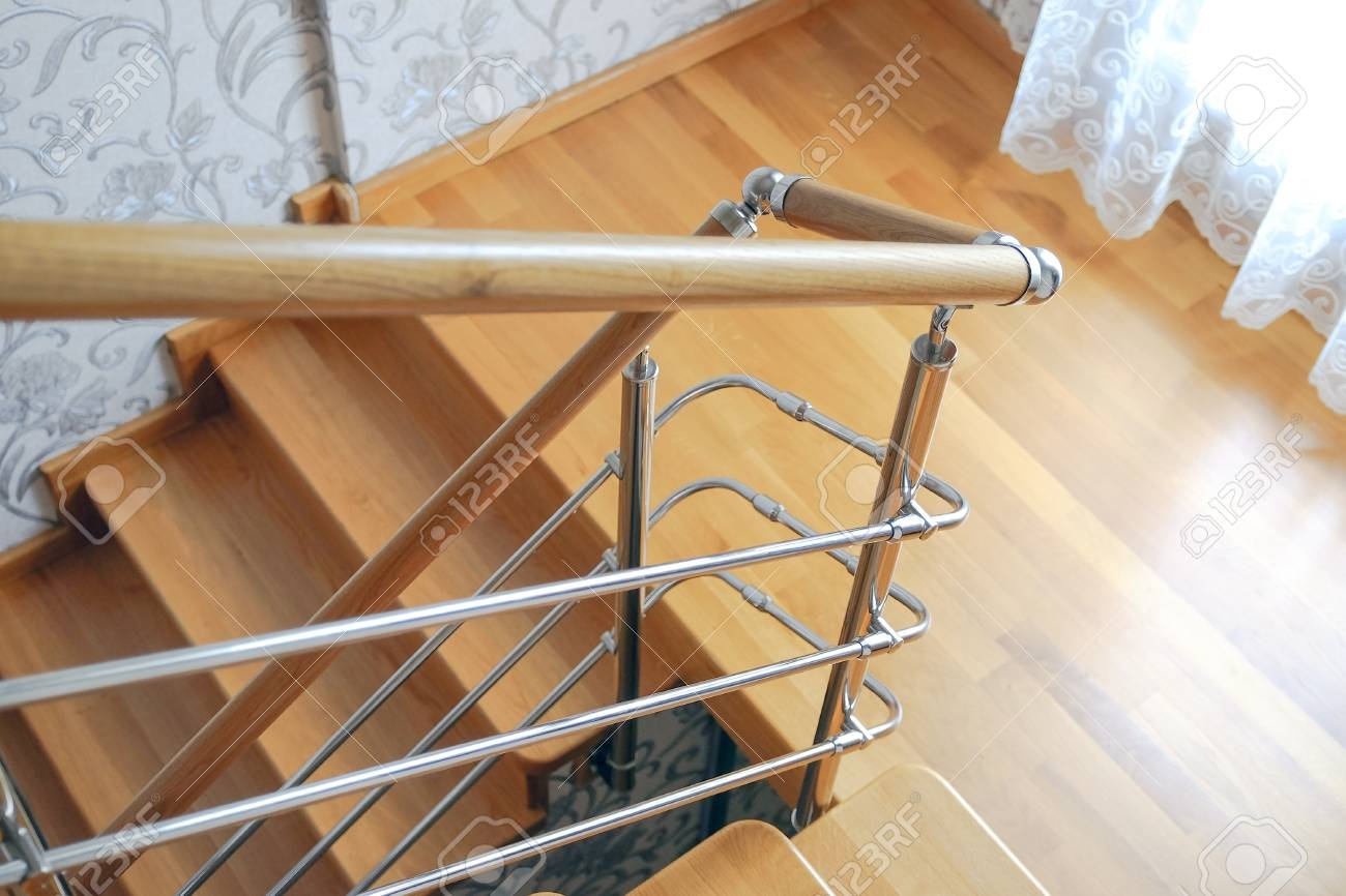 Wooden Staircase In The House Modern Wooden Staircase Oak Steps   Wood Stairs In House   Reclaimed Wood   Natural Wood   Residential   Minimalist   Basement