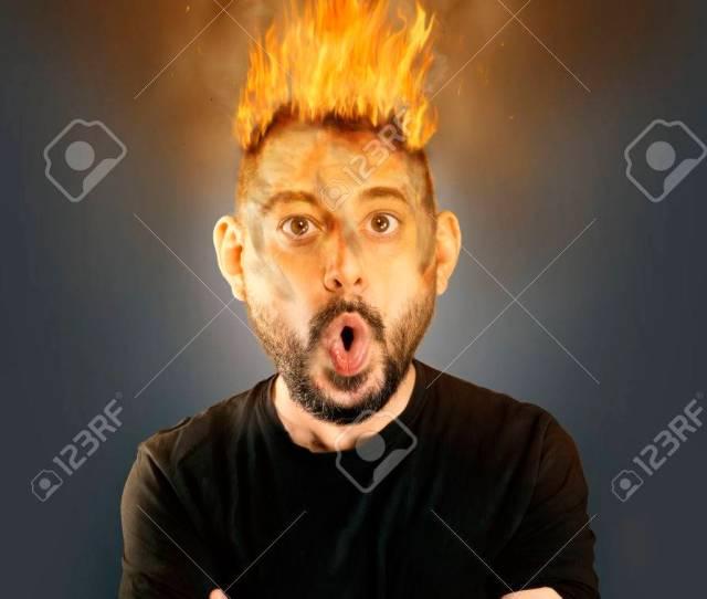 Man On Fire Comic Stock Photo 79310468