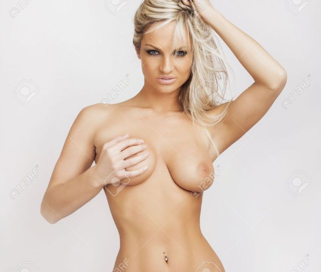 Attractive Glamour Nude Young Blonde Girl Stock Photo