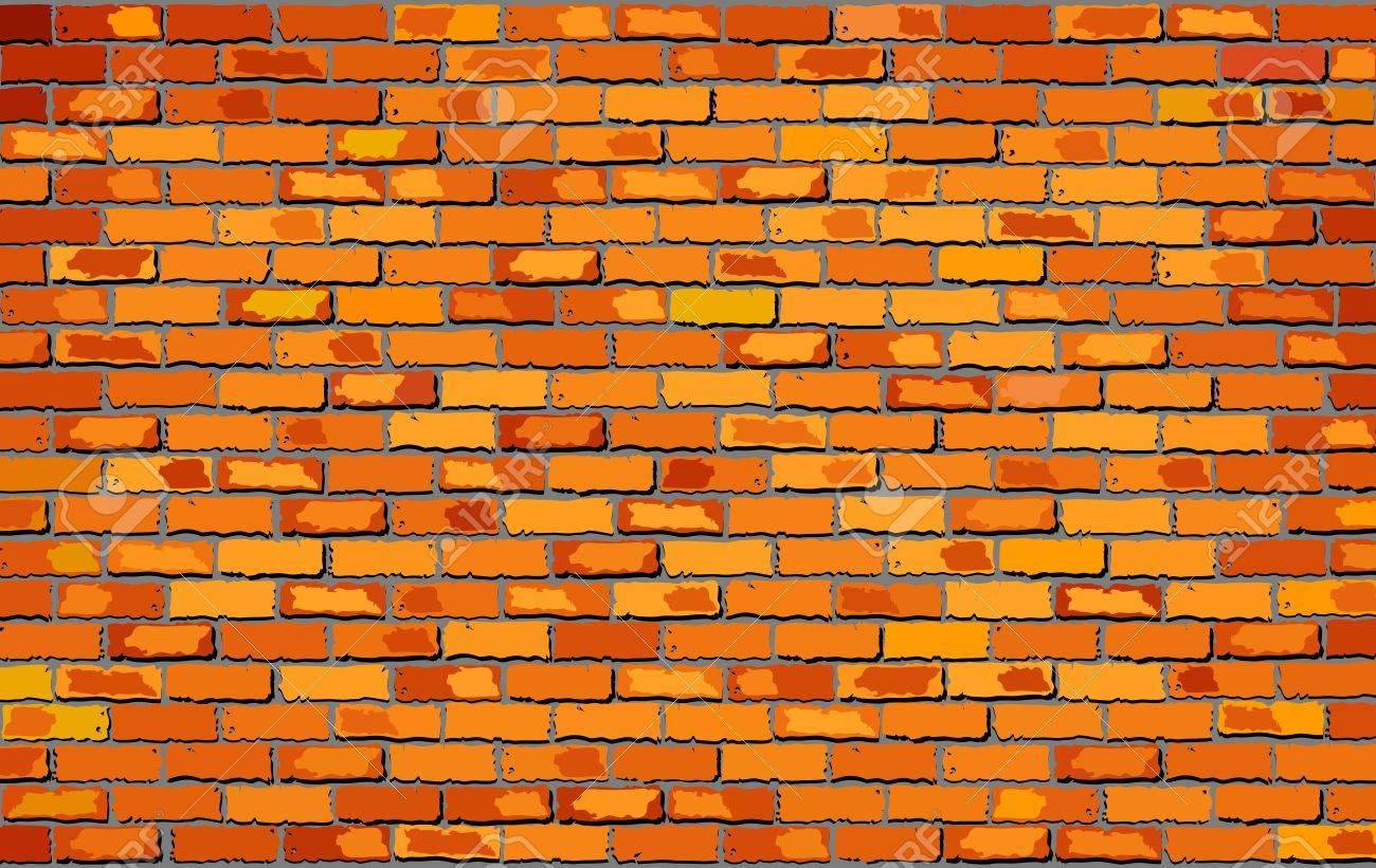 Orange Brick Wall Illustration Shades Of Orange Brick Wall Royalty Free Cliparts Vectors And Stock Illustration Image 53264317