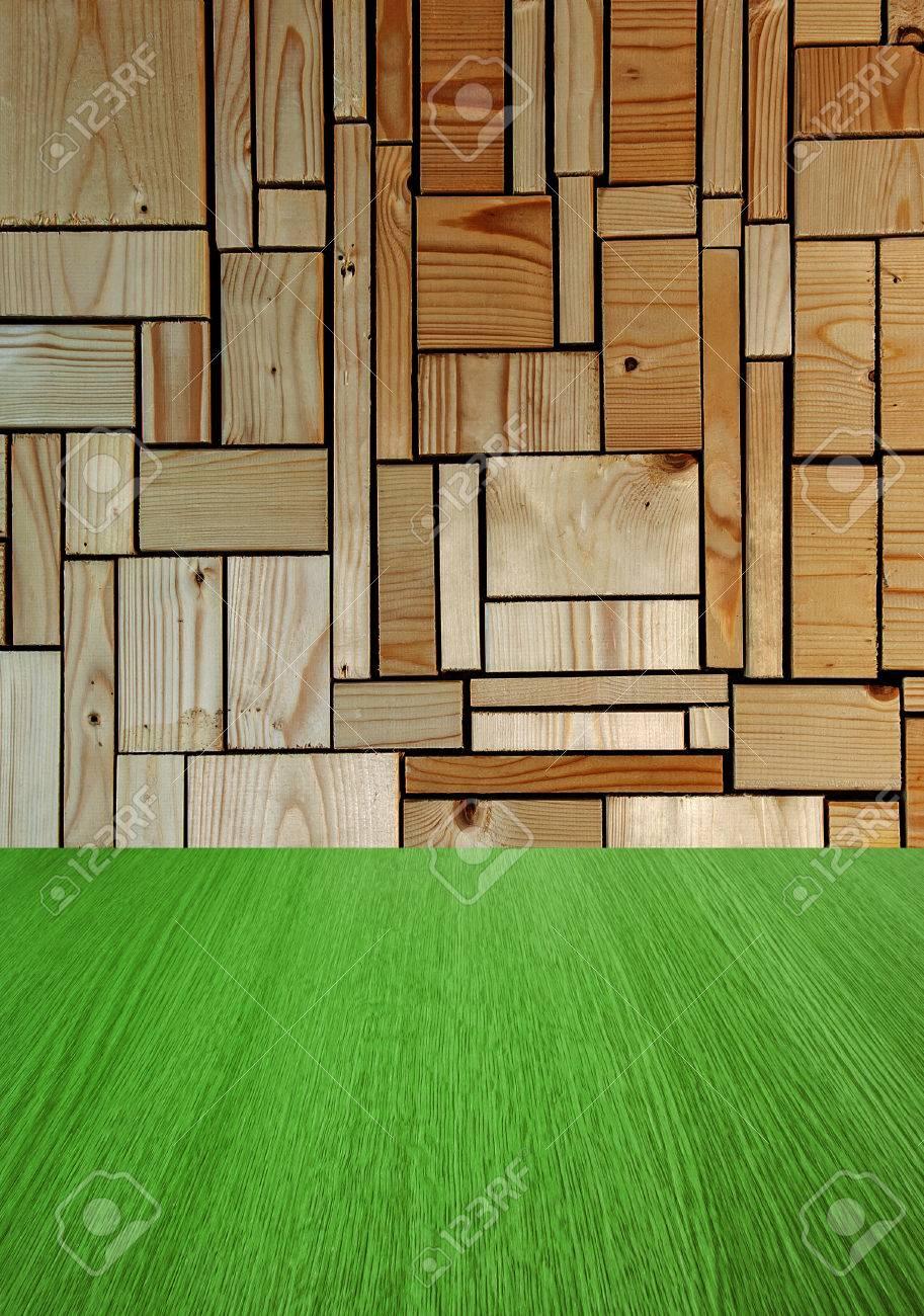 naturel fond vert bois avec la nature verte plancher pour la conception de produits etape mur plancher interieur avec la profondeur et de la
