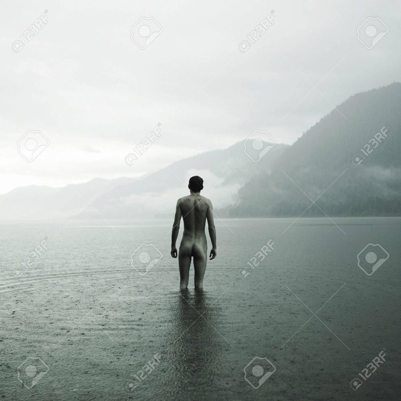 Imagini pentru naked man lake