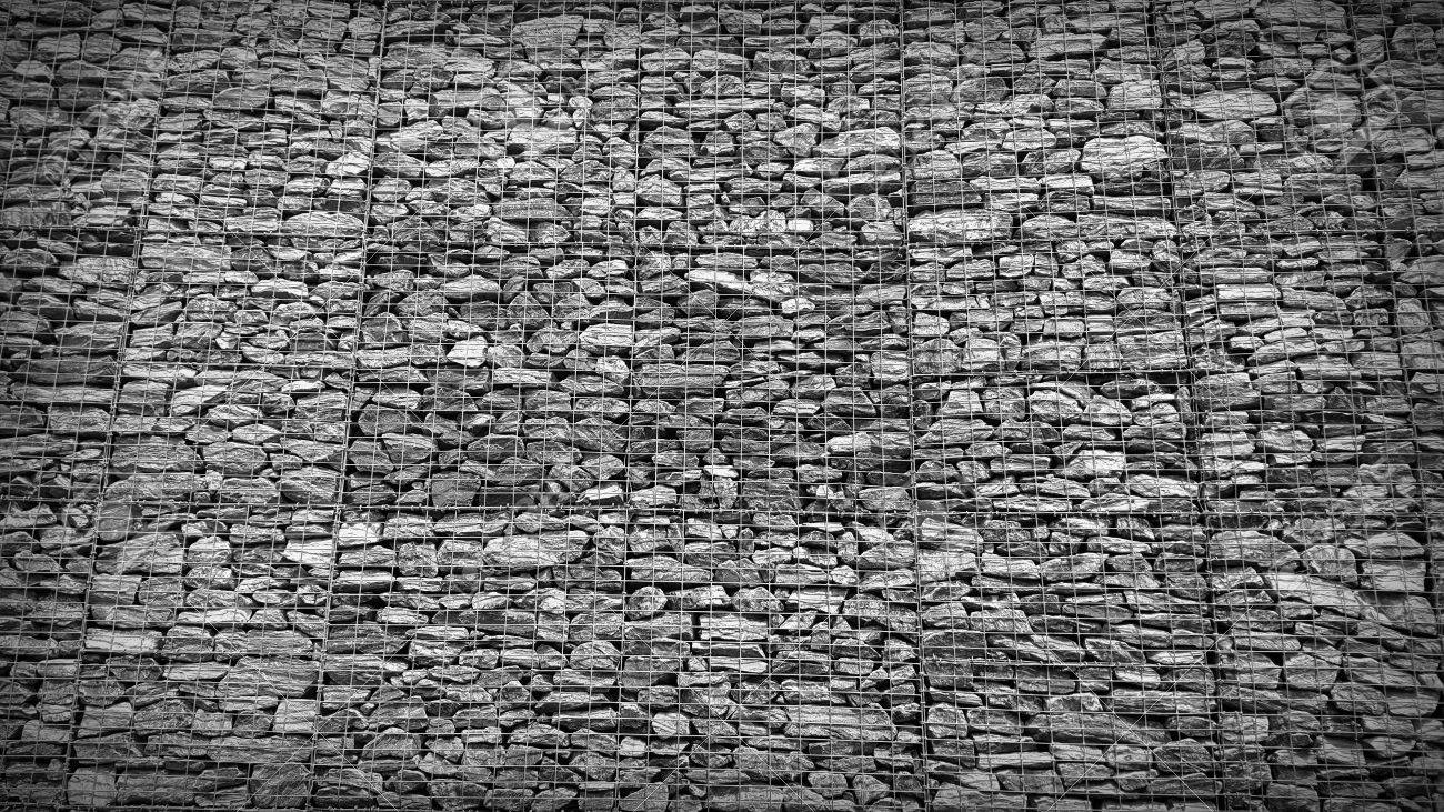 Gabion Retaining Wall Blocks With Mesh Wire Stone Basket Stock Photo Picture And Royalty Free Image Image 87323656