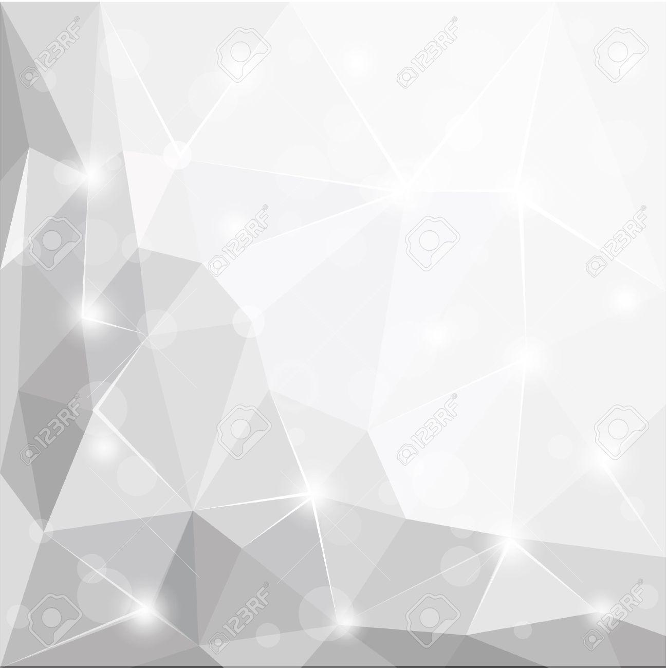 resume aspect geometrique blanc brillant polygonale fond gris et argent illustration papier peint