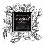 Vector Vintage Seafood Restaurant Illustration Hand Drawn Banner Royalty Free Cliparts Vectors And Stock Illustration Image 45068853