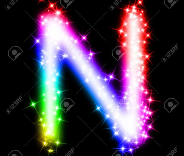 Colorful Alphabet Letter N Stock Photo 11062698