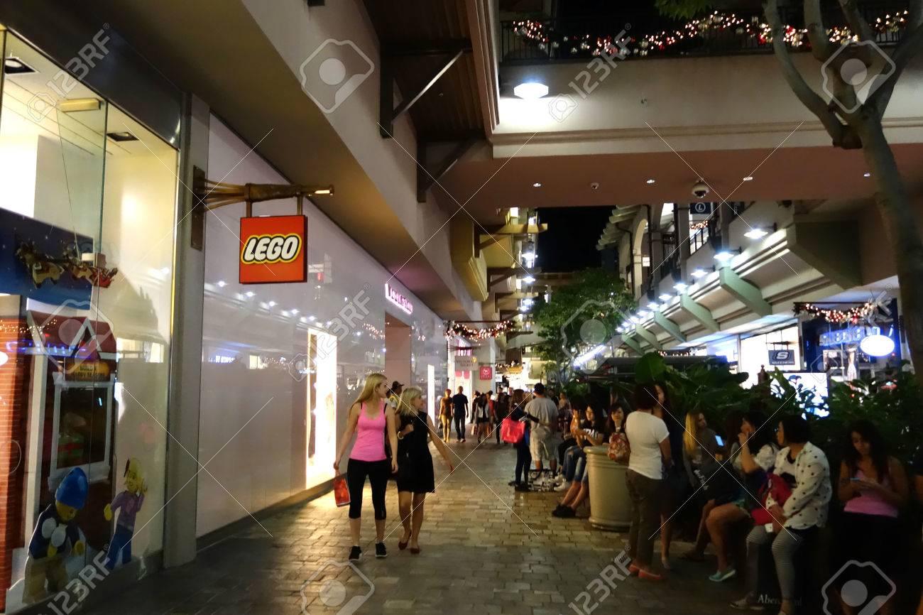 honolulu hi november 27 people around mall near lego store stock photo picture and royalty free image image 37711239