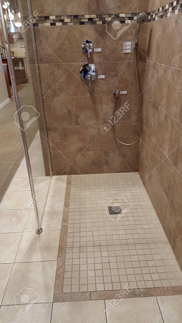 honolulu june 15 2015 walk in shower on display inside ferguson