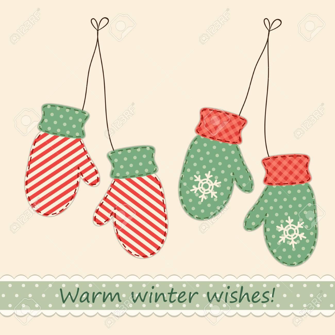 20 idee + tutorial se vi piacciono le decorazioni natalizie fai da te, siete sul post giusto! Vettoriale Muffole Retro In Tessuto Carino Come Decorazioni Natalizie In Stile Shabby Chic Image 86700786