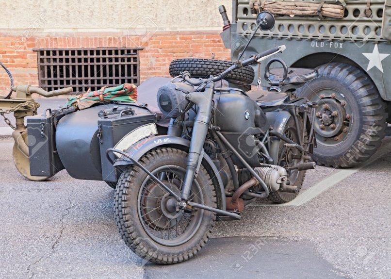 Old Bmw R75 750 Cc 1942 World War Ii Era German Motorcycle
