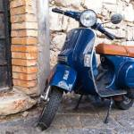 Gaeta Italy August 19 2015 Classic Blue Vespa Px 150 Scooter Stock Photo Picture And Royalty Free Image Image 44457460