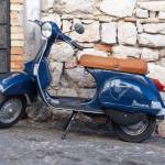 Gaeta Italy August 19 2015 Classic Blue Vespa Px 150 Scooter Stock Photo Picture And Royalty Free Image Image 44457462