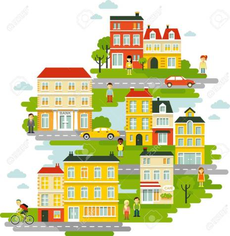 Image result for people in a SMALL city