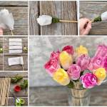 Process Step By Step How To Make Child Craft Rose From A Paper Stock Photo Picture And Royalty Free Image Image 148041455