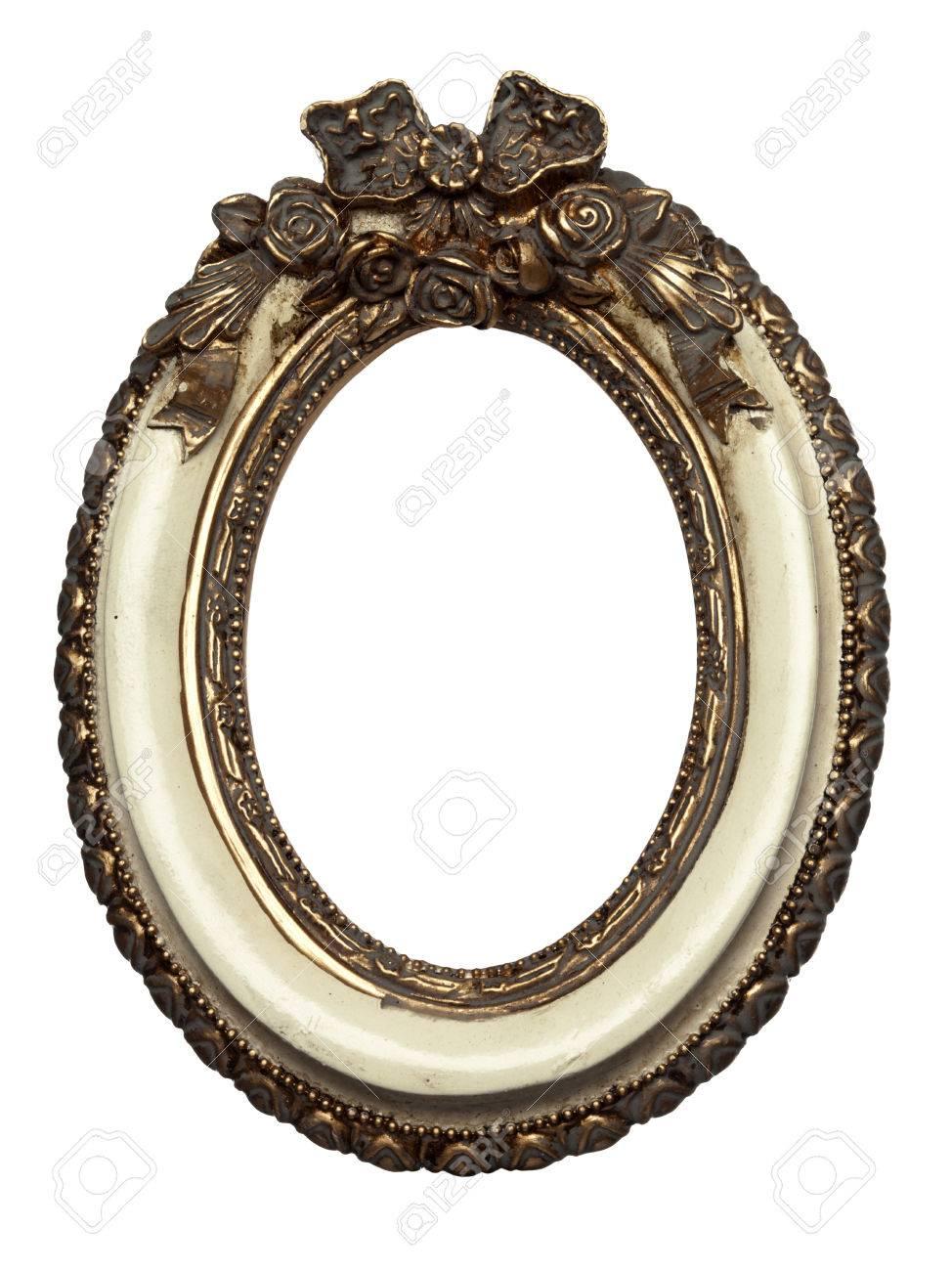 de forme ovale cadre photo baroque isole sur blanc banque d images et photos libres de droits image 29448705