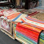 Large Market Stall Selling Many Oriental And Kilim Rugs