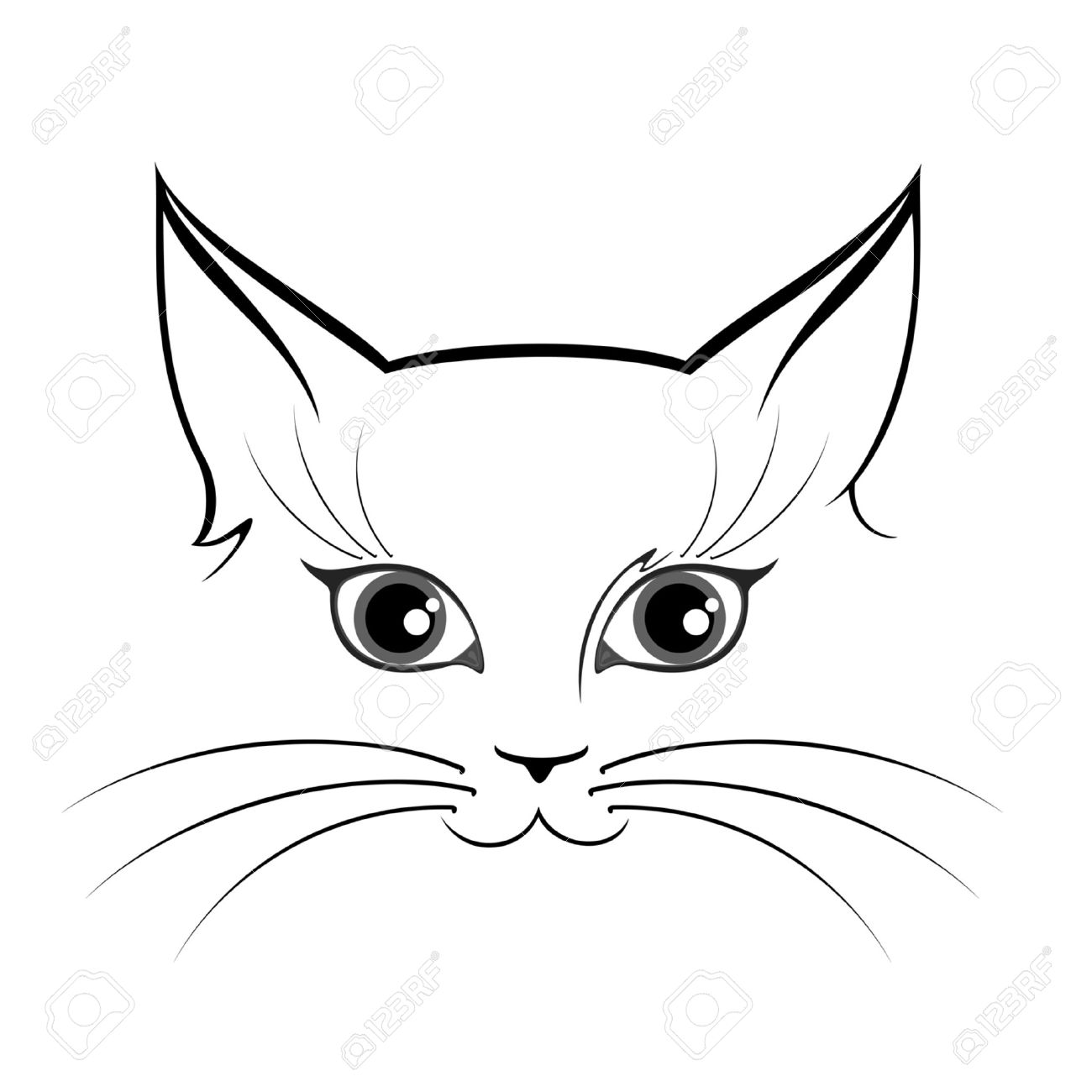 Creepy Cat Eyes Drawing Www Topsimages Com
