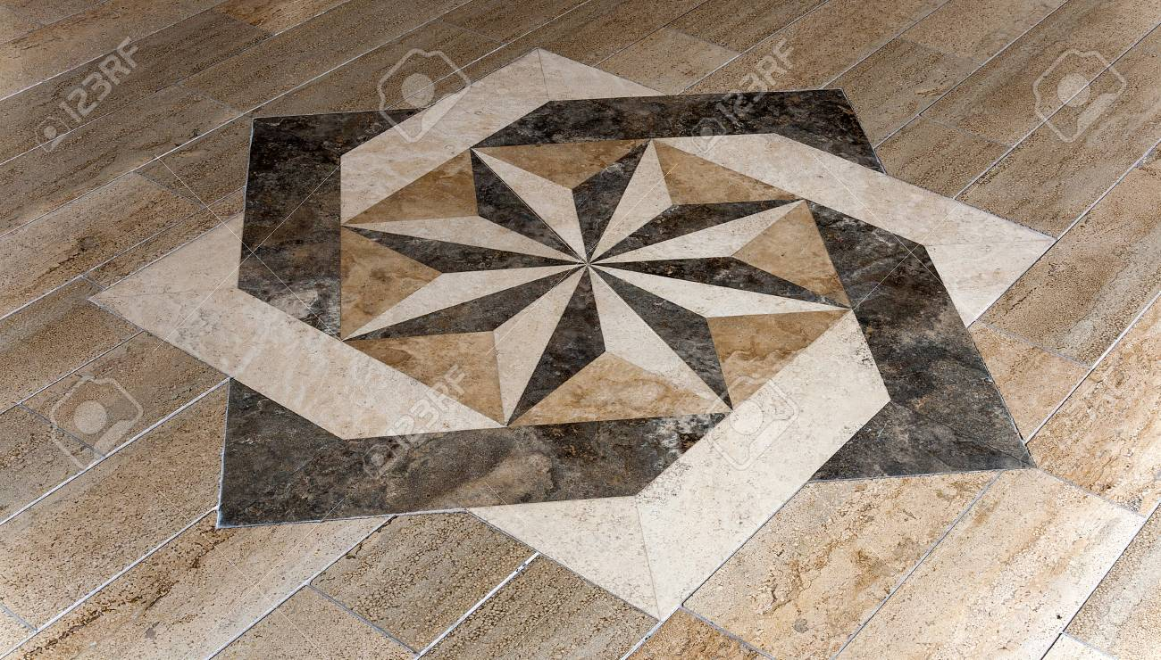 Mosaic Star Shape Floor Parquet Stone Marble Rose Wind Stock Photo Picture And Royalty Free Image Image 91882767