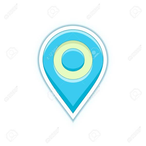 Vector Pin Symbol  Map Location Pin Icon  Vector Icon For Address     Map location pin icon  Vector icon for address and contact web page